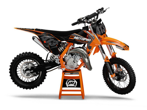 MotoPro Graphics Custom KTM 85 SX Dirt Bike GAMMA STEALH Series Graphics Set - FREE SHIPPING
