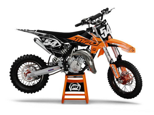 MotoPro Graphics Custom KTM 85 SX Dirt Bike GENESIS BLACK Series Graphics Set - FREE SHIPPING