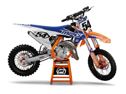 MotoPro Graphics Custom KTM 85 SX Dirt Bike GENESIS BLUE WHITE Series Graphics Set - FREE SHIPPING