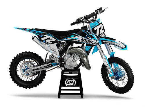 MotoPro Graphics Custom KTM 85 SX Dirt Bike HEET CYAN Series Graphics Set - FREE SHIPPING