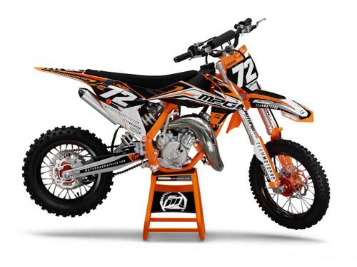 MotoPro Graphics Custom KTM 85 SX Dirt Bike HEET ORANGE Series Graphics Set - FREE SHIPPING