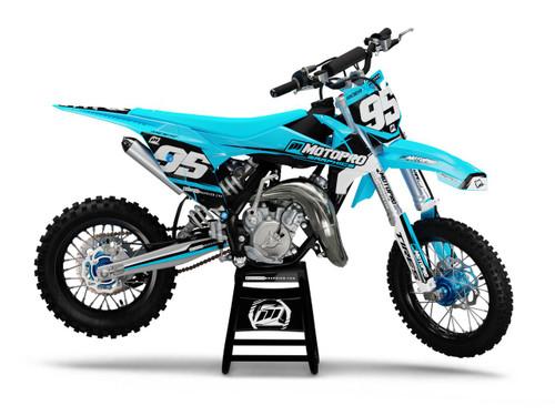 MotoPro Graphics Custom KTM 85 SX Dirt Bike SHADOW BLUE Series Graphics Set - FREE SHIPPING