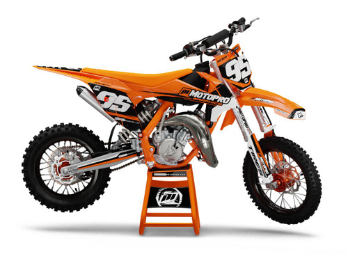 MotoPro Graphics Custom KTM 85 SX Dirt Bike SHADOW ORANGE Series Graphics Set - FREE SHIPPING