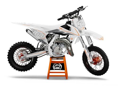 MotoPro Graphics Custom KTM 85 SX Dirt Bike ZAP WHITE Series Graphics Set - FREE SHIPPING
