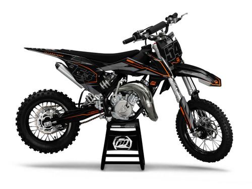 MotoPro Graphics Custom KTM 85 SX Dirt Bike ZAP BLACK Series Graphics Set - FREE SHIPPING