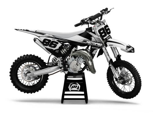 MotoPro Graphics Custom KTM 85 SX Dirt Bike TRACE GREY Series Graphics Set - FREE SHIPPING