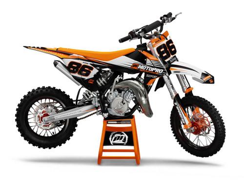 MotoPro Graphics Custom KTM 85 SX Dirt Bike TRACE ORANGE Series Graphics Set - FREE SHIPPING