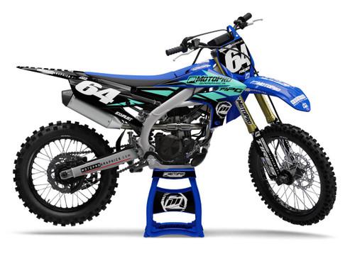 MotoPro Graphics Yamaha Dirt Bike Champion Aqua Graphics