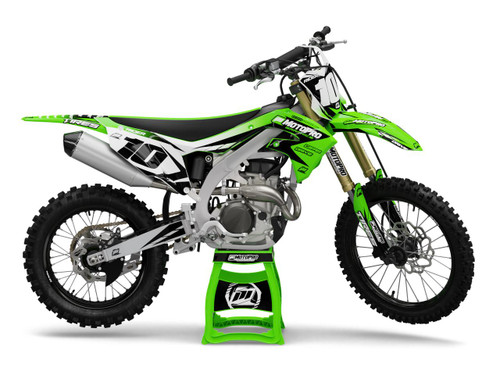 MotoPro Graphics Kawasaki Dirt Bike Striker Green Graphics