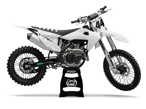 MotoPro Graphics Husqvarna Dirt Bike Ultron White Graphics