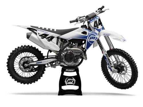 MotoPro Graphics Husqvarna Dirt Bike Ultron Blue Graphics