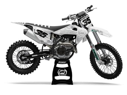 MotoPro Graphics Husqvarna Dirt Bike Cognito White Graphics