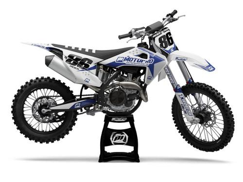 MotoPro Graphics Husqvarna Dirt Bike Genesis Blue Graphics