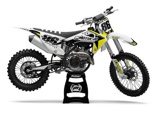 MotoPro Graphics Husqvarna Dirt Bike Genesis Yellow Graphics