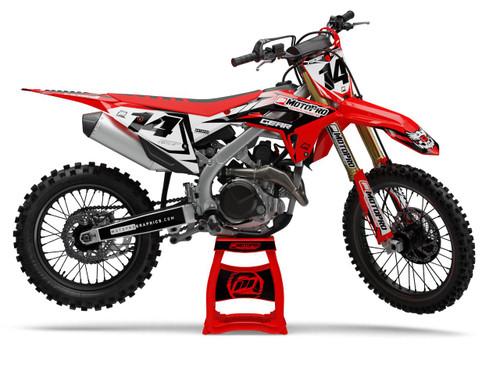 MotoPro Graphics Honda Dirt Bike Striker Series Red White Black Graphics