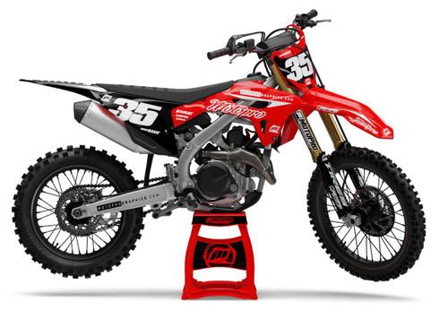 MotoPro Graphics Honda Dirt Bike Genesis Black Graphics