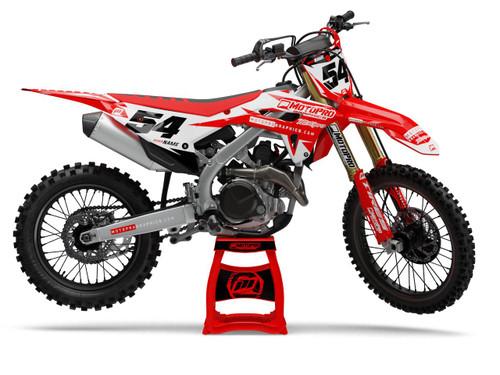 MotoPro Graphics Honda Dirt Bike Gamma White Graphics