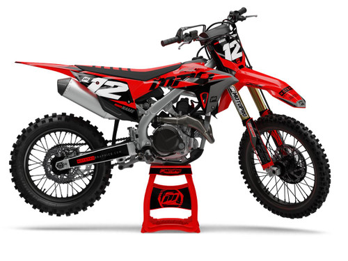 MotoPro Graphics Honda Dirt Bike Wurx Black Graphics