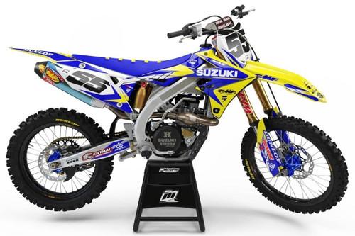 MotoPro Graphics Suzuki RMZ450 Dirt Bike Striker Blue Graphics