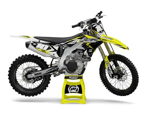 MotoPro Graphics Suzuki Dirt Bike Striker Yellow Graphics