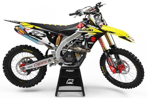 MotoPro Graphics Suzuki RMZ450 Dirt Bike Gamma Series Graphics - RMZ450