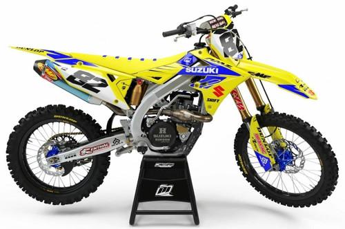 MotoPro Graphics Suzuki RMZ450 Dirt Bike Gamma Yellow Graphics