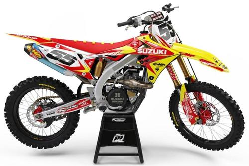 MotoPro Graphics Suzuki RMZ450 Dirt Bike Striker Red Graphics