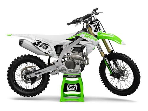 MotoPro Graphics Kawasaki Dirt Bike, Poly Snow Graphics