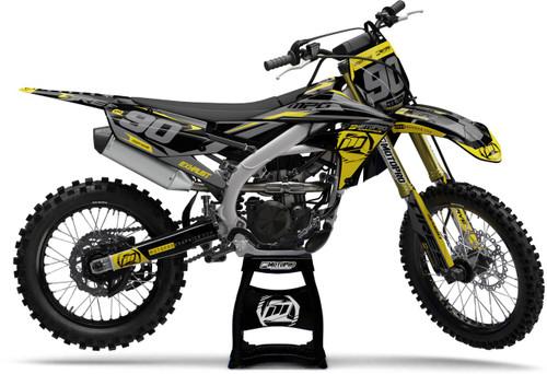 MotoPro Graphics Yamaha Dirt Bike Heet Yellow Series Graphics