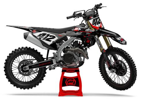 MotoPro Graphics Honda Dirt Bike Intimidator Series Graphics - INCLUDES CHROME