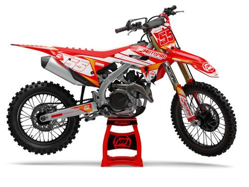 MotoPro Graphics Honda Dirt Bike Red Rocket Graphics