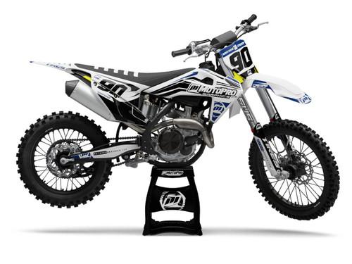 MotoPro Graphics Husqvarna Dirt Bike CONTROL Series Blue Black