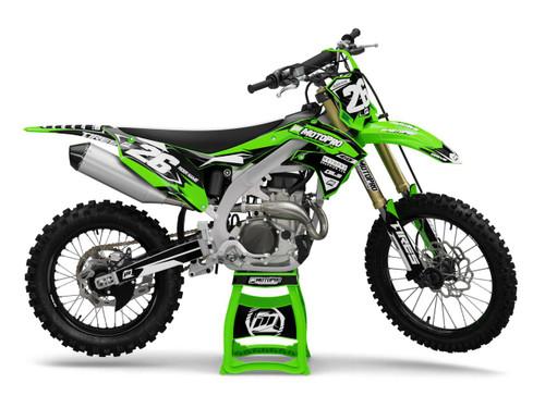 MotoPro Graphics Kawasaki Dirt Bike RAZOR Series Graphics