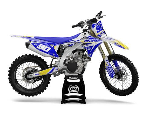MotoPro Graphics Suzuki Dirt Bike Splitter Blue Graphics