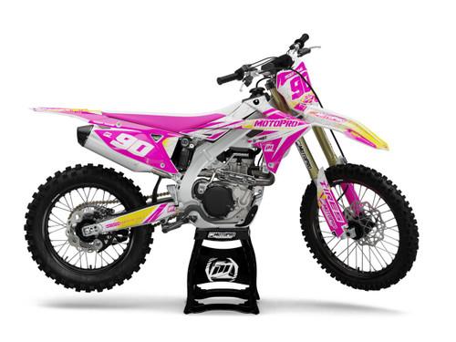 MotoPro Graphics Suzuki Dirt Bike Splitter Pink Graphics