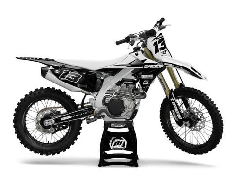 MotoPro Graphics Suzuki Dirt Bike Thunder White Graphics