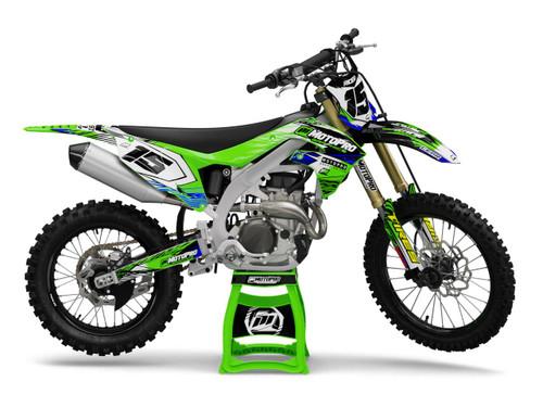 MotoPro Graphics Kawasaki Dirt Bike Assault Series Graphics