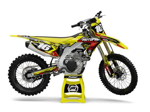 MotoPro Graphics Suzuki Dirt Bike Assault Series Graphics