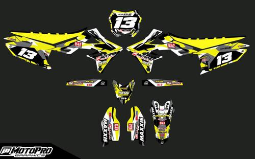MotoPro Graphics Suzuki RMZ450 Dirt Bike Blackfish Series Graphics