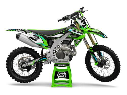 MotoPro Graphics Kawasaki Dirt Bike Hazard Series Graphics