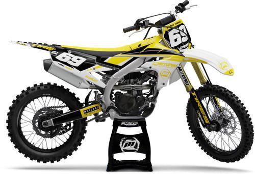 MotoPro Graphics Yamaha Dirt Bike Motorhead Yellow Graphics