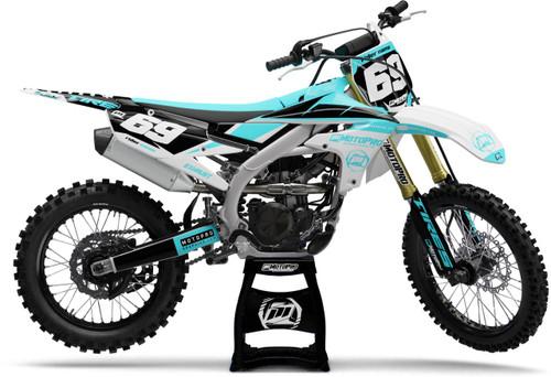 MotoPro Graphics Yamaha Dirt Bike Motorhead Blue Graphics