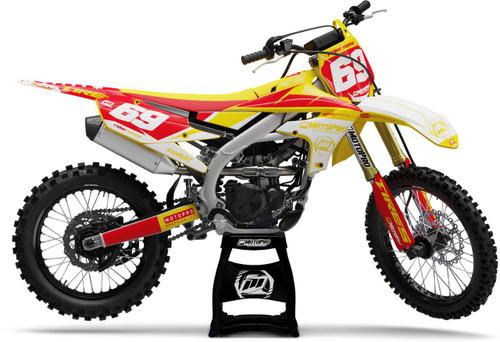 MotoPro Graphics Yamaha Dirt Bike Motorhead Red Yellow Graphics