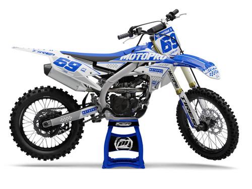 MotoPro Graphics Yamaha Dirt Bike Boost Blue Graphics