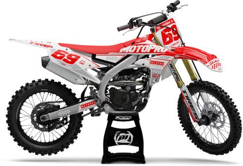 MotoPro Graphics Yamaha Dirt Bike Boost Red Graphics