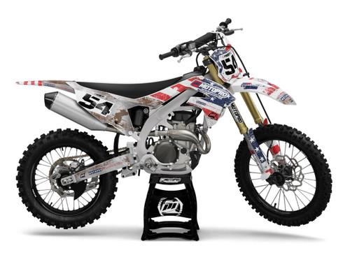 MotoPro Graphics Kawasaki Dirt Bike USA Patriot Series Graphics