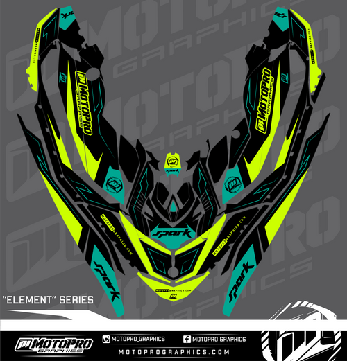 MotoPro Graphics Sea-Doo Spark Graphic Set - Element Series