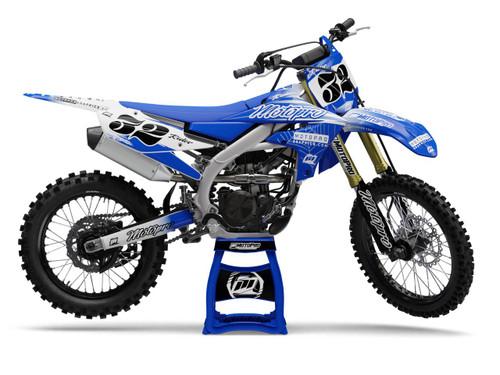 MotoPro Graphics Yamaha Dirt Bike FAST Blue Graphics