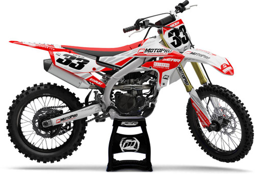 MotoPro Graphics Yamaha Dirt Bike TREK Red Series Graphics