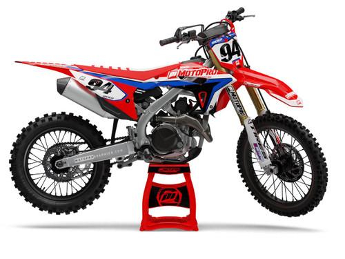 MotoPro Graphics Honda Dirt Bike RIDE RED Series Graphics